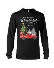 Wonderful Christmas with Truck - Min Pin Long Sleeve Tee thumbnail