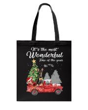 Wonderful Christmas with Truck - Min Pin Tote Bag thumbnail