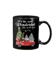 Wonderful Christmas with Truck - Min Pin Mug thumbnail