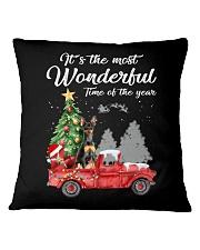 Wonderful Christmas with Truck - Min Pin Square Pillowcase thumbnail