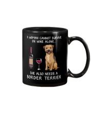 Wine and Border Terrier Mug thumbnail