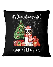 The Most Wonderful Xmas - Papillon Square Pillowcase thumbnail