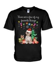 A Few of My Favorite Things - Shih Tzu V-Neck T-Shirt thumbnail