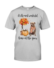 The Most Wonderful Time American Pit Bull Terrier Classic T-Shirt front
