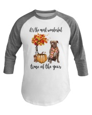 The Most Wonderful Time American Pit Bull Terrier Baseball Tee thumbnail