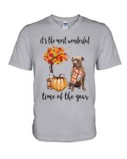 The Most Wonderful Time American Pit Bull Terrier V-Neck T-Shirt thumbnail