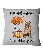 The Most Wonderful Time American Pit Bull Terrier Square Pillowcase thumbnail