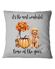 The Most Wonderful Time - Poodle Square Pillowcase thumbnail