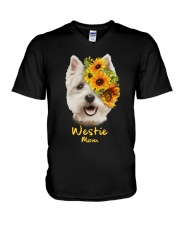 Westie Mom V-Neck T-Shirt thumbnail