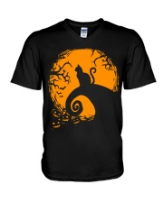 Cat Nightmare Shadow V-Neck T-Shirt thumbnail