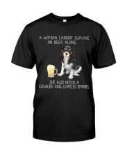 Beer and Cavalier King Charles Spaniel Classic T-Shirt front