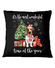 The Most Wonderful Xmas - Jack Russell Square Pillowcase thumbnail