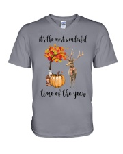 The Most Wonderful Time - Deer V-Neck T-Shirt thumbnail