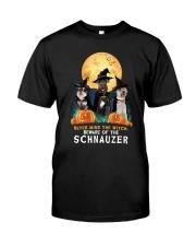 Howloween Schnauzer 2 Classic T-Shirt front