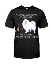 Wine and American Eskimo Classic T-Shirt front