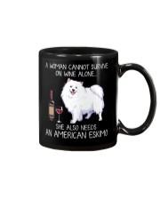 Wine and American Eskimo Mug thumbnail