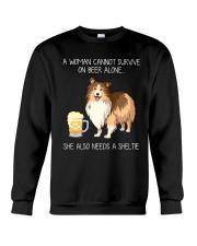 Beer and Sheltie Crewneck Sweatshirt thumbnail