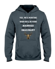 Yes He's Hunting Hooded Sweatshirt thumbnail