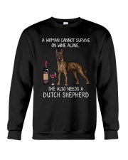 Wine and Dutch Shepherd Crewneck Sweatshirt thumbnail