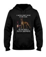 Wine and Dutch Shepherd Hooded Sweatshirt thumbnail