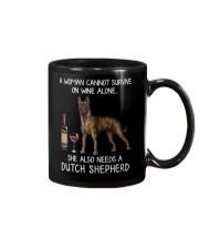 Wine and Dutch Shepherd Mug thumbnail