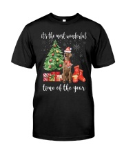 The Most Wonderful Xmas - Weimaraner Classic T-Shirt front
