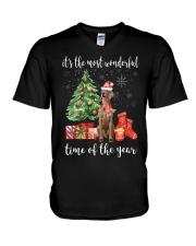 The Most Wonderful Xmas - Weimaraner V-Neck T-Shirt thumbnail
