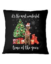 The Most Wonderful Xmas - Weimaraner Square Pillowcase thumbnail