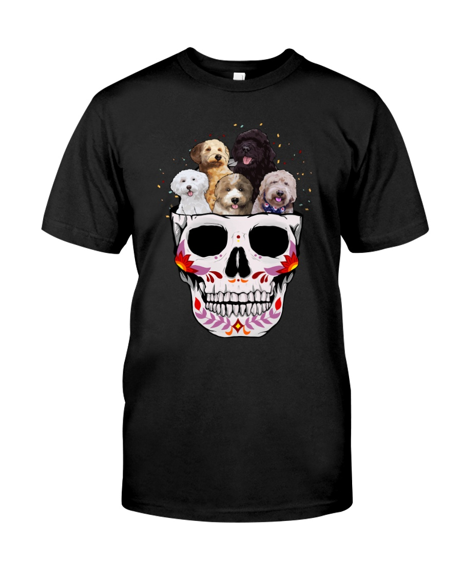 Half Skull Labradoodle Classic T-Shirt