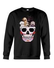 Half Skull Labradoodle Crewneck Sweatshirt thumbnail