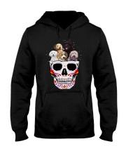 Half Skull Labradoodle Hooded Sweatshirt thumbnail