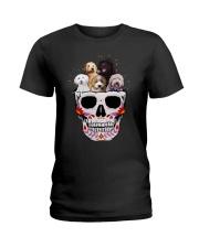 Half Skull Labradoodle Ladies T-Shirt thumbnail
