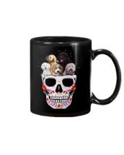 Half Skull Labradoodle Mug thumbnail