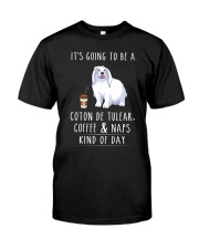 Coton de Tulear Coffee and Naps Classic T-Shirt front