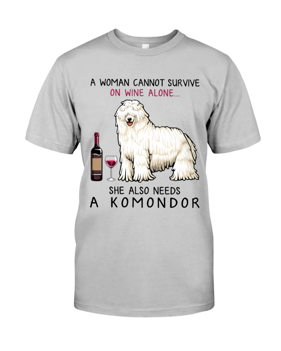 Wine and Komondor 2 Classic T-Shirt
