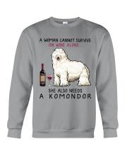 Wine and Komondor 2 Crewneck Sweatshirt thumbnail