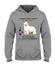 Wine and Komondor 2 Hooded Sweatshirt thumbnail
