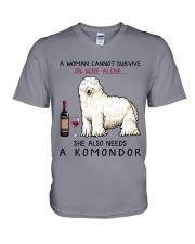 Wine and Komondor 2 V-Neck T-Shirt thumbnail