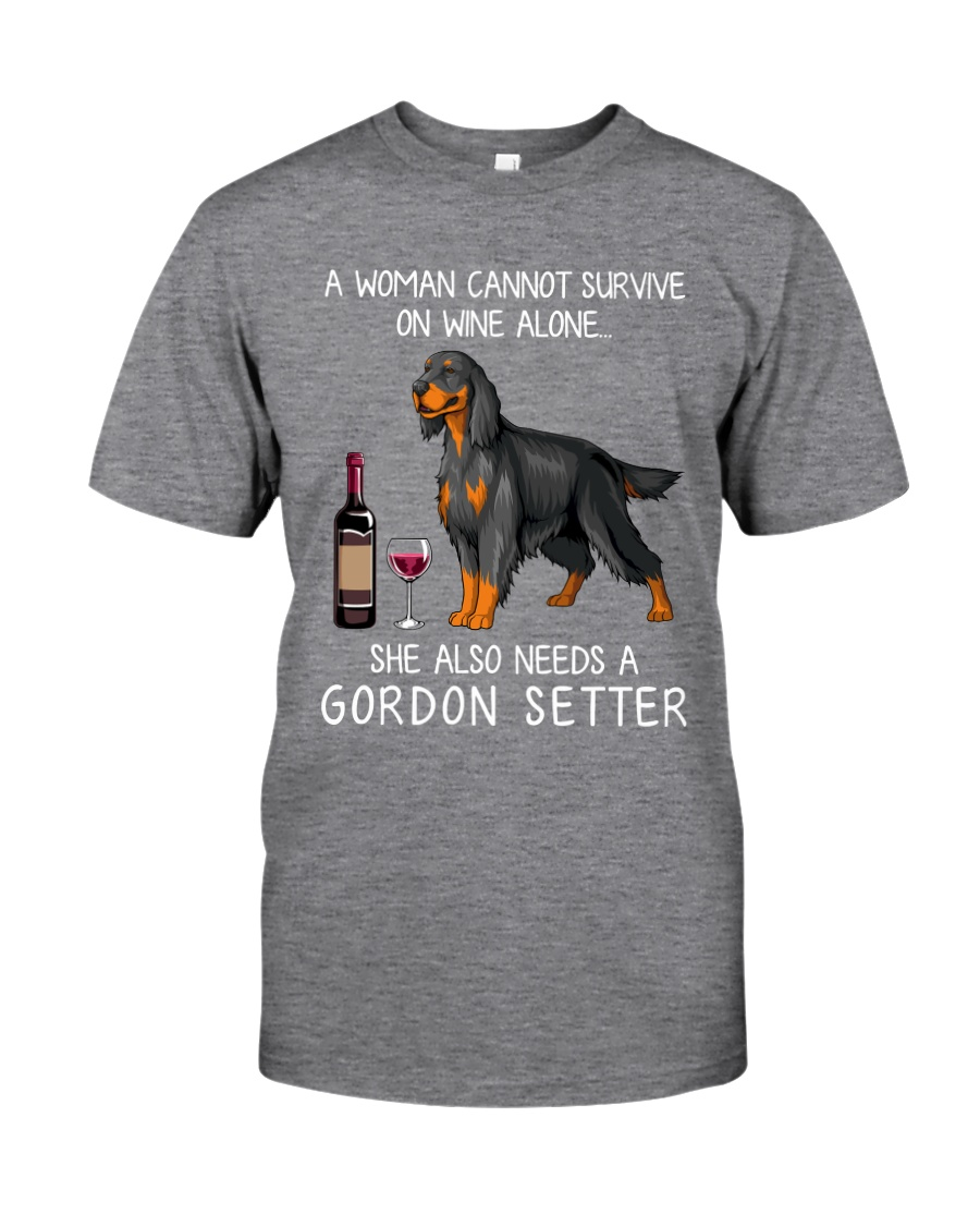 Wine and Gordon Setter Classic T-Shirt