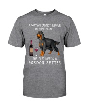 Wine and Gordon Setter Classic T-Shirt front