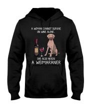 Wine and Weimaraner Hooded Sweatshirt thumbnail