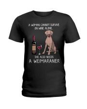 Wine and Weimaraner Ladies T-Shirt thumbnail