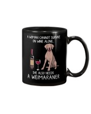 Wine and Weimaraner Mug thumbnail