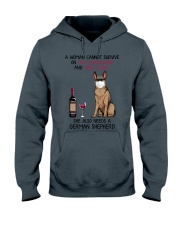 Cannot Survive Alone - German Shepherd Hooded Sweatshirt thumbnail