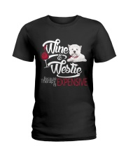 Westie - Therapy is expensive Ladies T-Shirt thumbnail