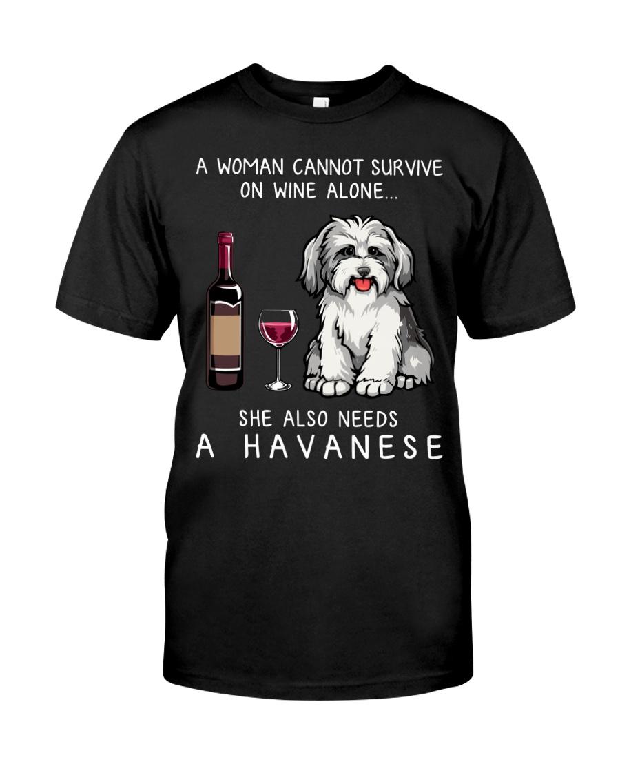 Wine and Havanese Classic T-Shirt