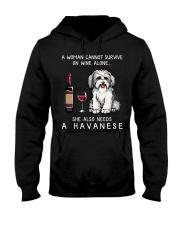 Wine and Havanese Hooded Sweatshirt thumbnail