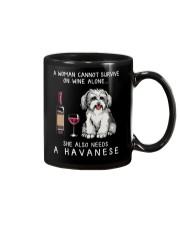 Wine and Havanese Mug thumbnail