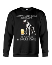 Beer and Great Dane Crewneck Sweatshirt thumbnail