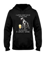 Beer and Great Dane Hooded Sweatshirt thumbnail